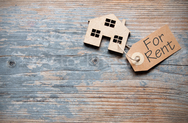 Miniature house with rental label Stock photo © unikpix