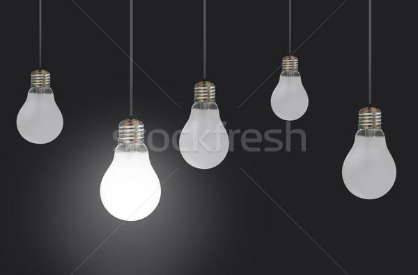 подвесной один свет толпа власти Сток-фото © unikpix
