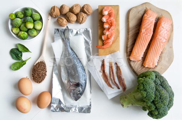 Omega graso ácido alimentos colección Foto stock © unikpix