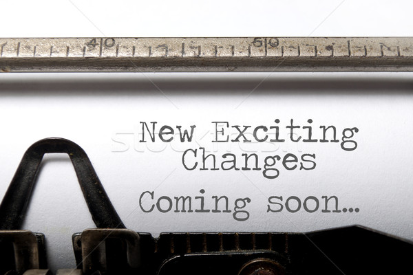 Exciting changes motivational saying Stock photo © unikpix