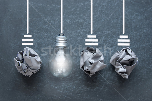 Unique light bulb  Stock photo © unikpix