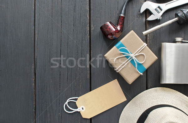 Fathers day gift with blank label Stock photo © unikpix