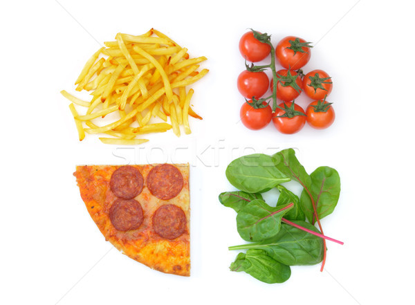 Good bad food choices Stock photo © unikpix