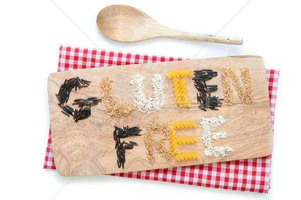 Sin gluten arroz pasta tabla de cortar alimentos Foto stock © unikpix