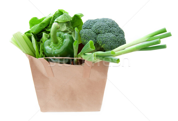 Grocery bag with vegetables  Stock photo © unikpix