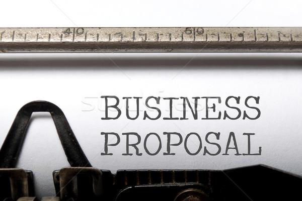 бизнеса предложение напечатанный старые машинку ретро Сток-фото © unikpix
