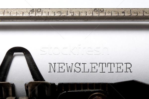 Bulletin imprimé machine à écrire internet communication site Photo stock © unikpix