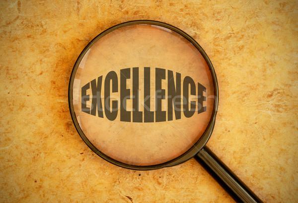 Focus eccellenza lente di ingrandimento parola istruzione Foto d'archivio © unikpix