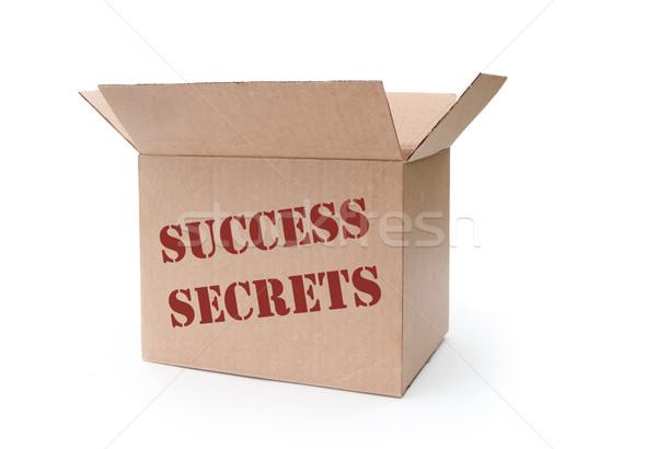 Succès secrets boîte plein bras gagner Photo stock © unikpix