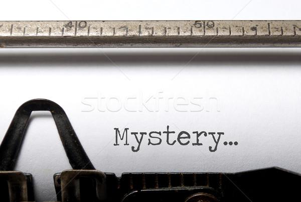 Tajemnicy wydrukowane maszyny do pisania książki film vintage Zdjęcia stock © unikpix