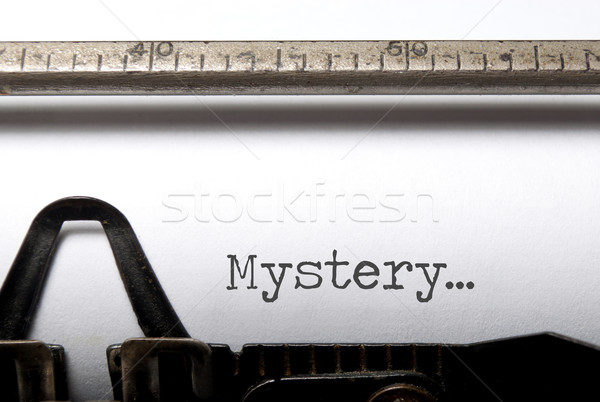 Misterio impreso máquina de escribir libro película vintage Foto stock © unikpix