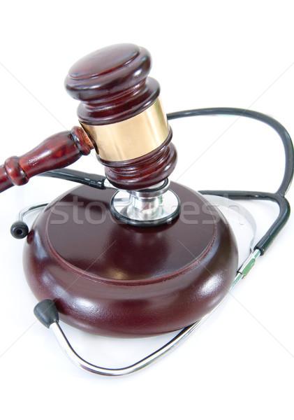 Stetoskop tokmak etrafında beyaz tıbbi sağlık Stok fotoğraf © unikpix