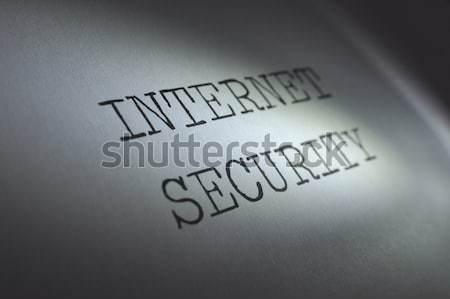 Szerzői jog fény fókuszál szó jogi ötlet Stock fotó © unikpix