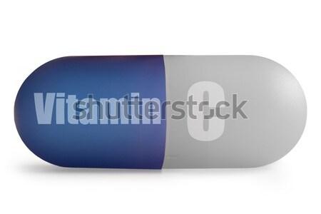 C vitamin közelkép kiegészítő tabletta fehér makró Stock fotó © unikpix