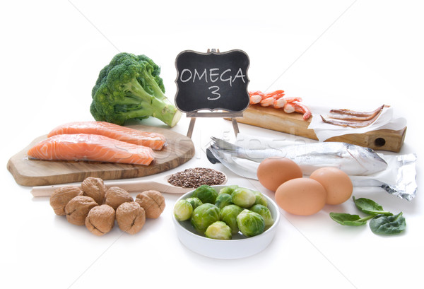 Omega 3 rijke collectie hoog vet Stockfoto © unikpix