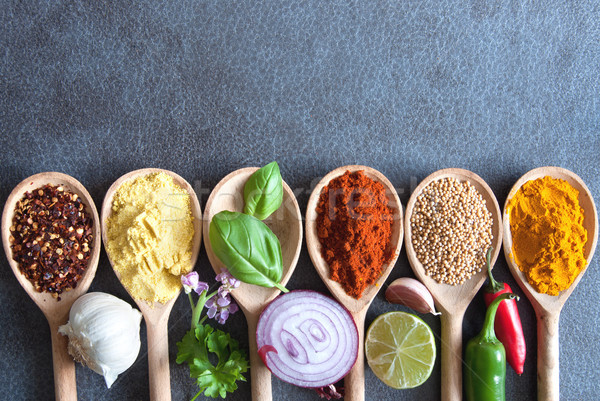 Food seasoning background Stock photo © unikpix