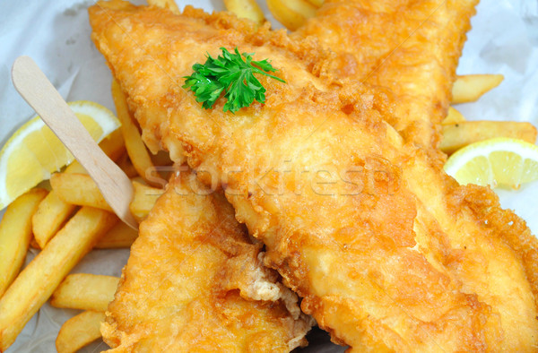 Fish and chips takeaway Stock photo © unikpix