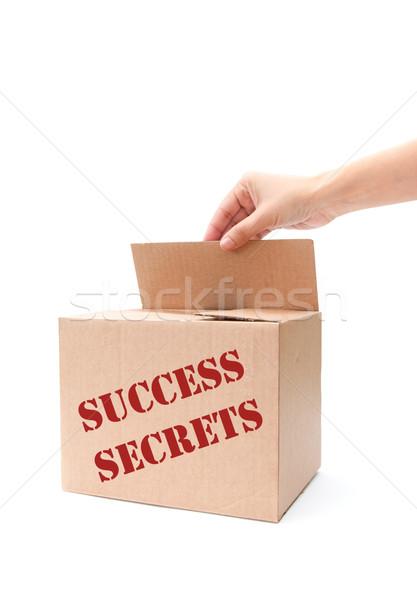 Succès secrets main ouverture boîte bras Photo stock © unikpix