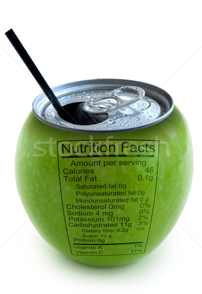 Apple nutrition facts  Stock photo © unikpix
