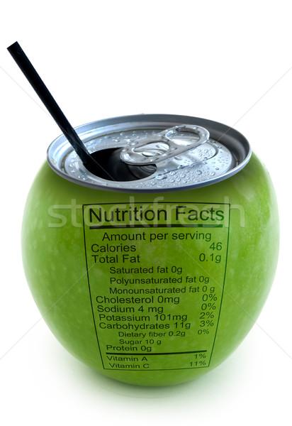 Pomme nutrition réalités image fruits aluminium Photo stock © unikpix