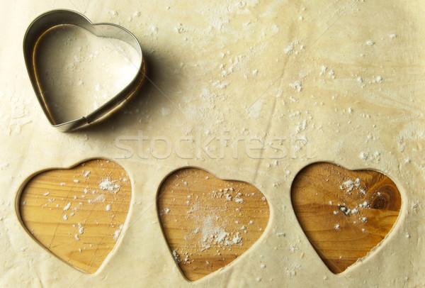 Heart shape cookie preparation Stock photo © unikpix