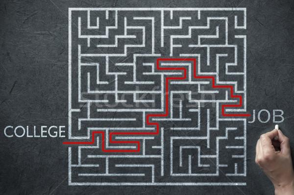 работу лабиринт решения пути ведущий колледжей Сток-фото © unikpix