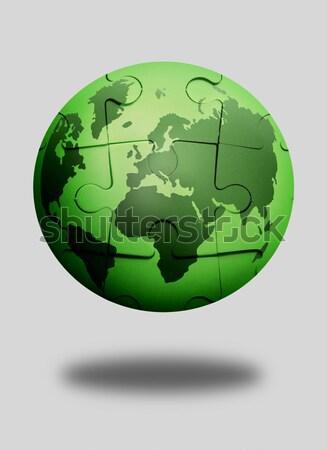 Zöld bolygó atlasz földgömb térkép fehér Stock fotó © unikpix