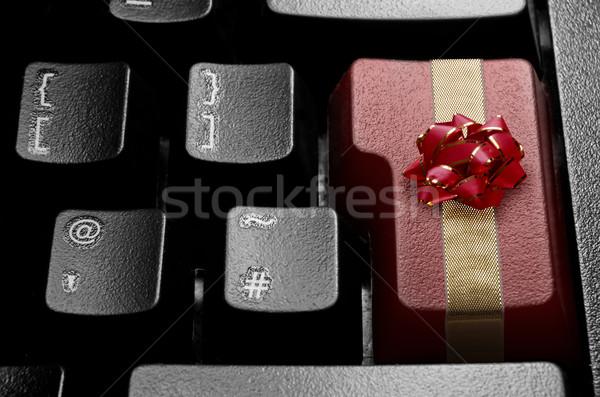 Stock fotó: Karácsony · online · vásárlás · számítógép · belépés · kulcs · dekoratív