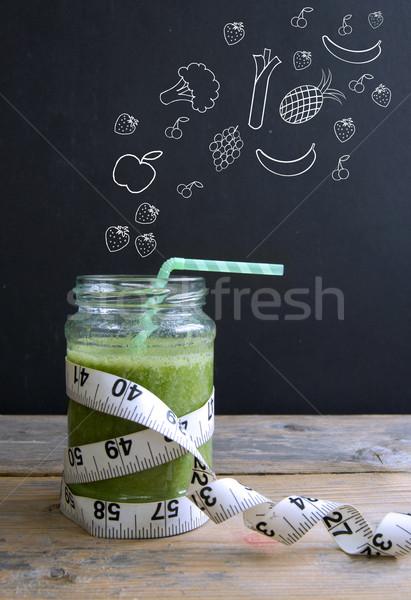 グリーンスムージー 健康 果物 野菜 黒板 ストックフォト © unikpix