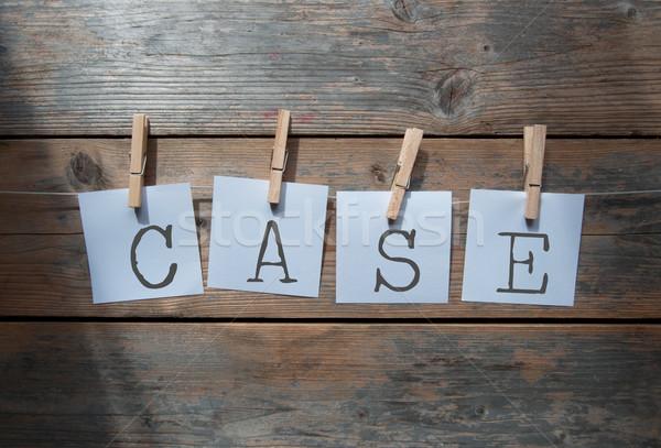 Constructing a case washing line concept  Stock photo © unikpix