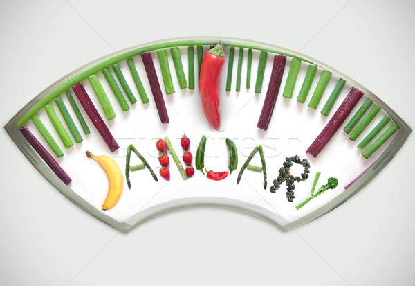 January diet concept Stock photo © unikpix