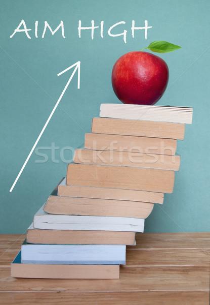 Aim high in education Stock photo © unikpix