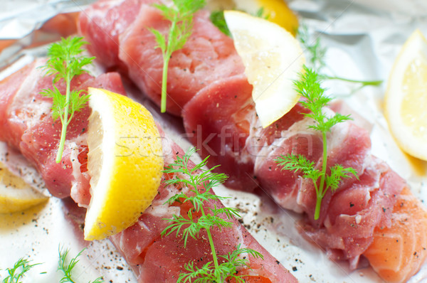 Raw fish fillets  Stock photo © unikpix