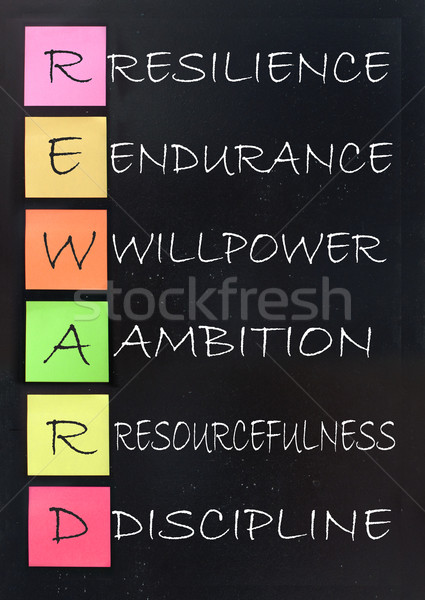 Belonen succes acroniem Blackboard strategie Stockfoto © unikpix