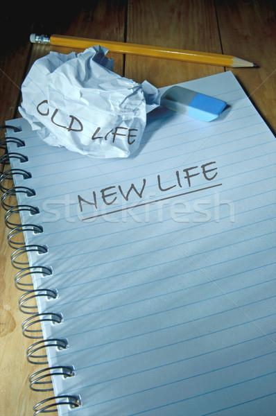 Eski hayat vs yeni hayat parça Stok fotoğraf © unikpix