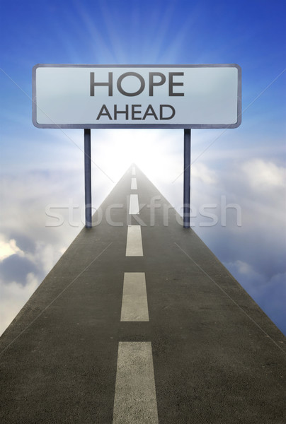 Hope ahead road sign Stock photo © unikpix
