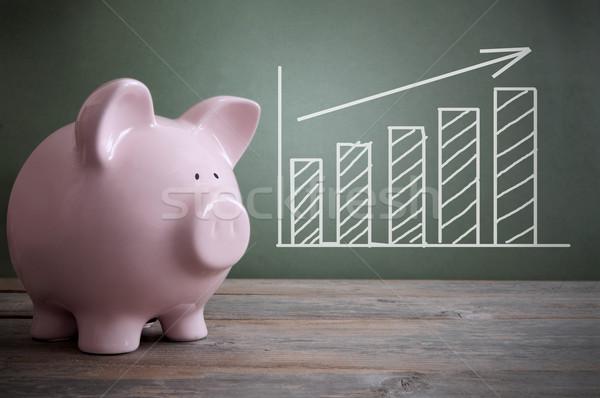 экономический роста мелом совета диаграммы стрелка Сток-фото © unikpix