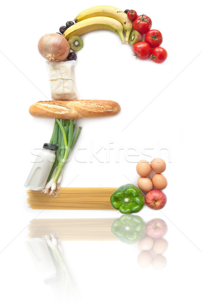 Sterling pound sign food groceries  Stock photo © unikpix