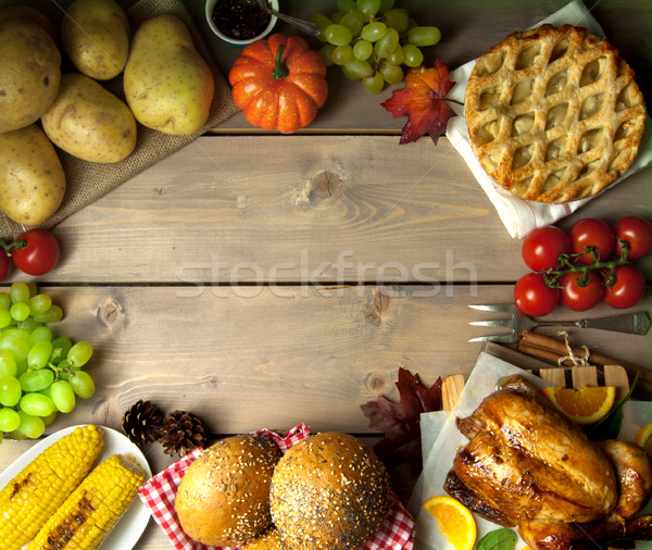 Seasonal meal background with space Stock photo © unikpix