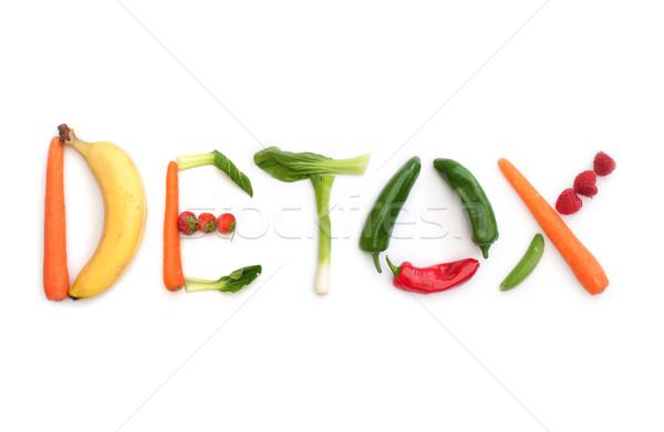 Detoxikáló gyümölcsök zöldségek levelek zöldség diéta Stock fotó © unikpix