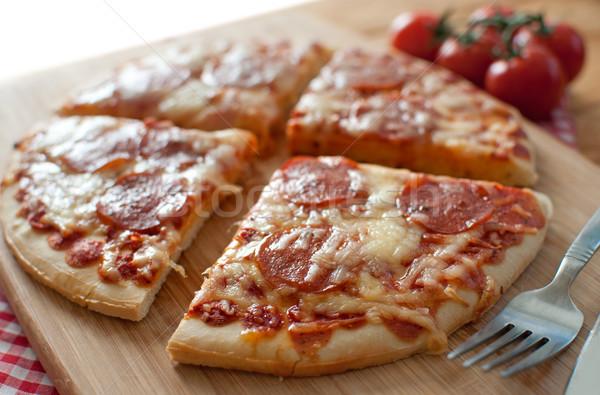 ペパロニ ピザ イタリア語 ストックフォト © unikpix