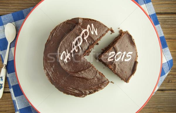 Happy new year 2015 cake Stock photo © unikpix
