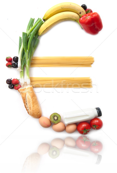Euro currency symbol food groceries  Stock photo © unikpix