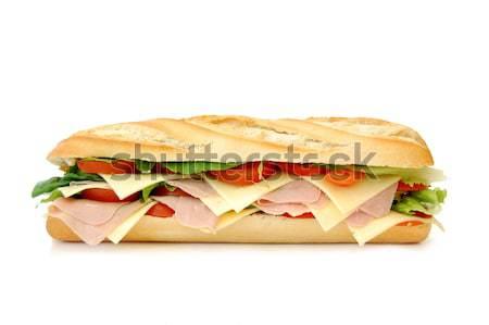 Sandviç büyük yalıtılmış beyaz sağlık ekmek Stok fotoğraf © unikpix