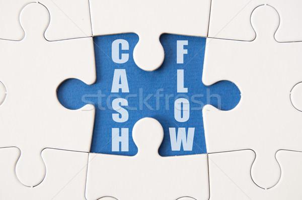 Cashflow oplossing stuk business geld Stockfoto © unikpix
