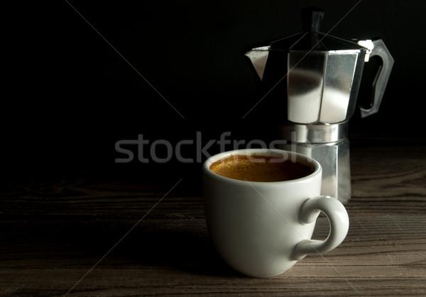Espresso caffè italiana legno sfondo Foto d'archivio © unikpix