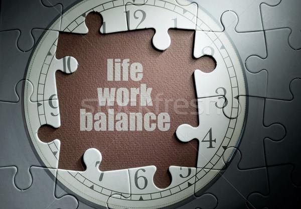 élet munka egyensúly hiányzó darab óra Stock fotó © unikpix