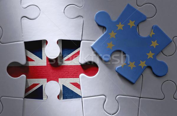 Stock photo: Brexit jigsaw puzzle concept