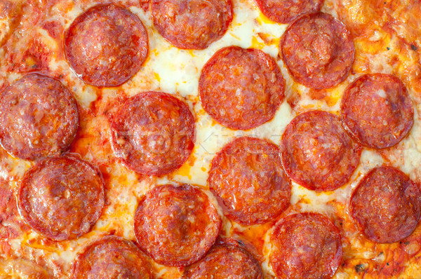 пиццы приготовленный пепперони обеда мяса Сток-фото © unikpix
