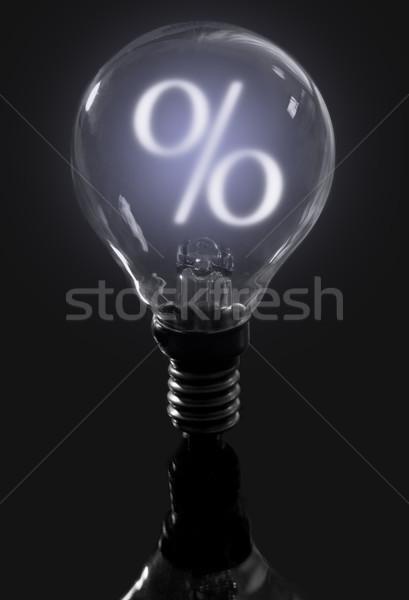 Light bulb percent sign Stock photo © unikpix